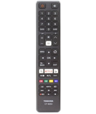 Telecomada, ORIGINAL, CT-8053 LED, TV, TOSHIBA, 43U5663DG, RC48121, NETFLIX,