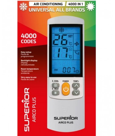 TELECOMANDA AC AER CONDITIONAT UNIVERSALA 4000 IN 1 SUPERIOR AIRCO PLUS
